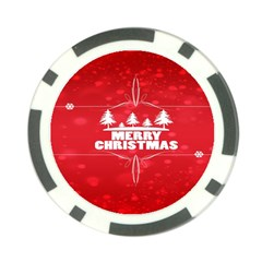 Red Bokeh Christmas Background Poker Chip Card Guard (10 pack)