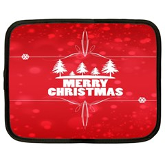Red Bokeh Christmas Background Netbook Case (XL)