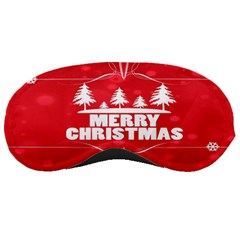 Red Bokeh Christmas Background Sleeping Masks