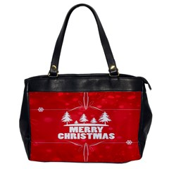 Red Bokeh Christmas Background Office Handbags