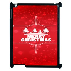 Red Bokeh Christmas Background Apple iPad 2 Case (Black)
