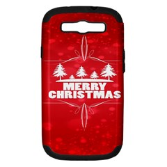 Red Bokeh Christmas Background Samsung Galaxy S III Hardshell Case (PC+Silicone)
