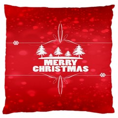 Red Bokeh Christmas Background Standard Flano Cushion Case (Two Sides)