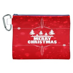 Red Bokeh Christmas Background Canvas Cosmetic Bag (XXL)