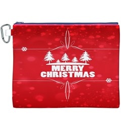 Red Bokeh Christmas Background Canvas Cosmetic Bag (XXXL)
