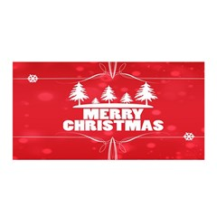 Red Bokeh Christmas Background Satin Wrap