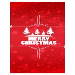 Red Bokeh Christmas Background Drawstring Bag (Large)