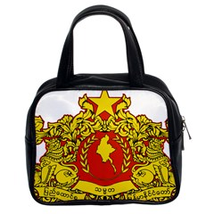 State Seal Of Myanmar Classic Handbags (2 Sides)
