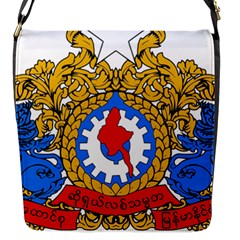 State Seal Of Burma, 1974 2008 Flap Messenger Bag (s)