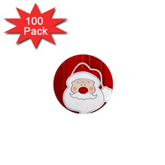 Santa Claus Xmas Christmas 1  Mini Magnets (100 pack)