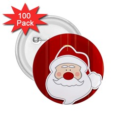Santa Claus Xmas Christmas 2.25  Buttons (100 pack)