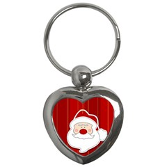Santa Claus Xmas Christmas Key Chains (Heart)