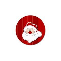 Santa Claus Xmas Christmas Golf Ball Marker (10 pack)