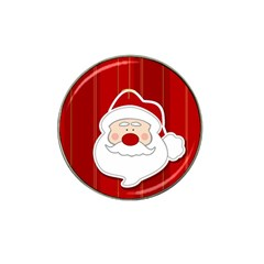 Santa Claus Xmas Christmas Hat Clip Ball Marker (4 pack)