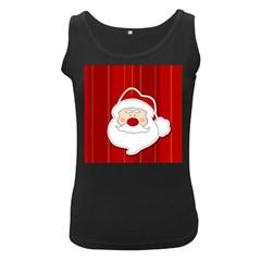 Santa Claus Xmas Christmas Women s Black Tank Top