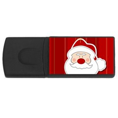 Santa Claus Xmas Christmas USB Flash Drive Rectangular (4 GB)