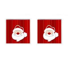 Santa Claus Xmas Christmas Cufflinks (Square)