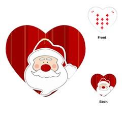 Santa Claus Xmas Christmas Playing Cards (Heart)
