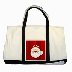 Santa Claus Xmas Christmas Two Tone Tote Bag