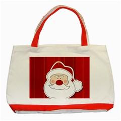 Santa Claus Xmas Christmas Classic Tote Bag (Red)