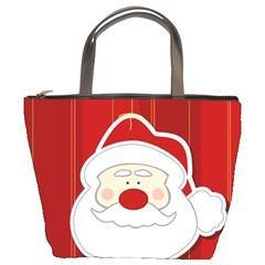 Santa Claus Xmas Christmas Bucket Bags