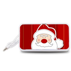 Santa Claus Xmas Christmas Portable Speaker (White)
