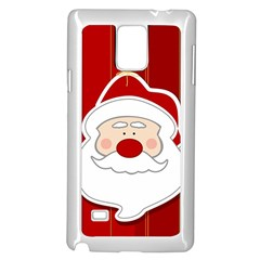 Santa Claus Xmas Christmas Samsung Galaxy Note 4 Case (White)