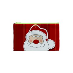 Santa Claus Xmas Christmas Cosmetic Bag (XS)