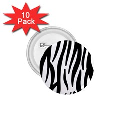 Seamless Zebra Pattern 1.75  Buttons (10 pack)