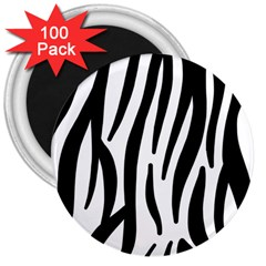 Seamless Zebra Pattern 3  Magnets (100 pack)
