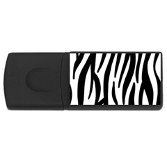 Seamless Zebra Pattern USB Flash Drive Rectangular (2 GB)