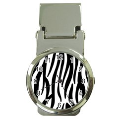 Seamless Zebra Pattern Money Clip Watches
