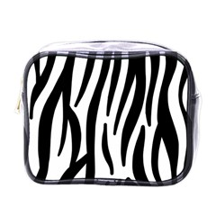 Seamless Zebra Pattern Mini Toiletries Bags