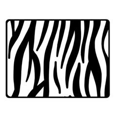 Seamless Zebra Pattern Double Sided Fleece Blanket (Small)