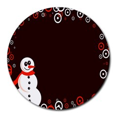 Snowman Holidays, Occasions, Christmas Round Mousepads