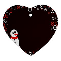 Snowman Holidays, Occasions, Christmas Ornament (Heart)