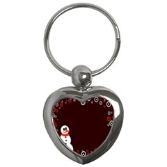 Snowman Holidays, Occasions, Christmas Key Chains (Heart)