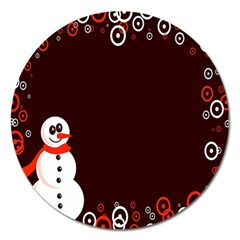 Snowman Holidays, Occasions, Christmas Magnet 5  (Round)
