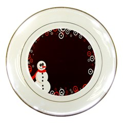 Snowman Holidays, Occasions, Christmas Porcelain Plates