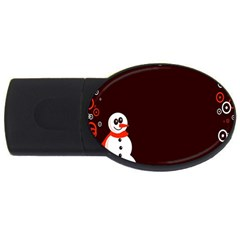 Snowman Holidays, Occasions, Christmas USB Flash Drive Oval (4 GB)