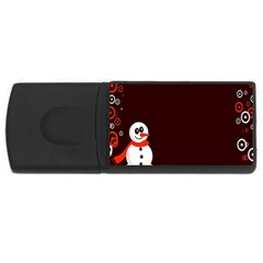 Snowman Holidays, Occasions, Christmas USB Flash Drive Rectangular (4 GB)