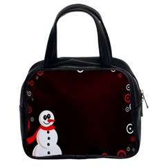 Snowman Holidays, Occasions, Christmas Classic Handbags (2 Sides)
