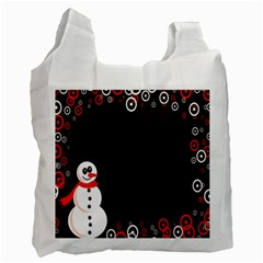 Snowman Holidays, Occasions, Christmas Recycle Bag (Two Side)