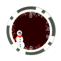 Snowman Holidays, Occasions, Christmas Poker Chip Card Guard (10 pack)