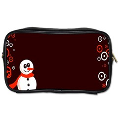 Snowman Holidays, Occasions, Christmas Toiletries Bags 2-Side