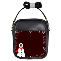 Snowman Holidays, Occasions, Christmas Girls Sling Bags