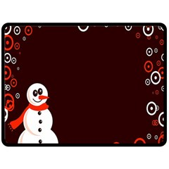 Snowman Holidays, Occasions, Christmas Fleece Blanket (Large)