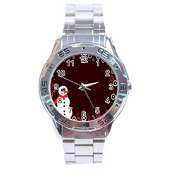 Snowman Holidays, Occasions, Christmas Stainless Steel Analogue Watch