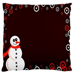 Snowman Holidays, Occasions, Christmas Large Cushion Case (Two Sides)