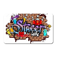 Graffiti Word Characters Composition Decorative Urban World Youth Street Life Art Spraycan Drippy Bl Magnet (rectangular)